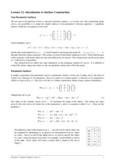 Lecture 12 - Spline surfaces (notes)