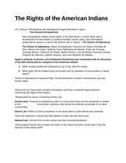The rights of the American Indians outline