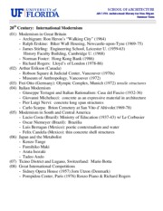 (T4) 20th Century International Modernism