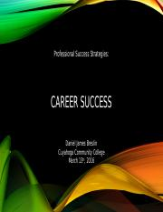 BADM Career Success