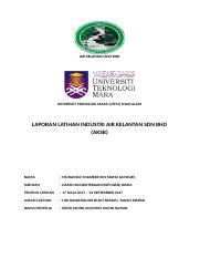 Laporan Latihan Industri Air Kelantan Sdn Bhd Docx Air Kelantan Sdn Bhd Universiti Teknologi Mara Uitm Shah Alam Laporan Latihan Industri Air Kelantan Course Hero
