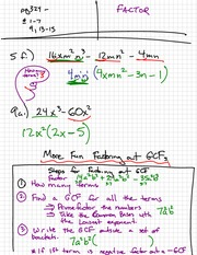 Basic Factoring Notes