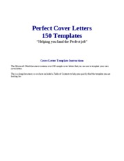 150 Cover Letter Templates