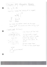 Class Note Magnetic Fields