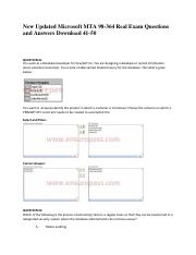 New-Updated-Microsoft-MTA-98-364-Real-Exam-Questions-and-Answers-Download-41-50
