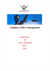 Business Ethics Management