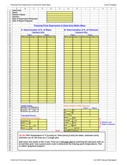 Chem 1310 Exp 7 Freezing Point Depression to Determine MW EXCEL TEMPLATE