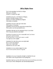 Bill of Rights Poem
