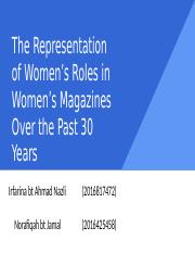 The Representation of Women's Roles in Women's Magazines (2).ppt