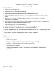 Module 5 Organizing Note Outline