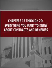 LAW JDH Ch13-20 Contracts