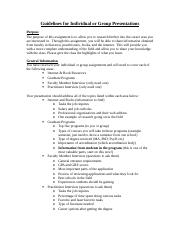 Guidelines for Individual-Group Presentations.doc