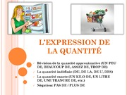 French Expression of Quantities