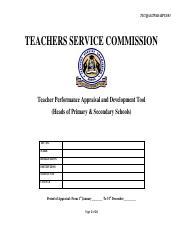 TPAD Tool for Heads of institutions 2018 pdf - TSC/QAS/TPAD