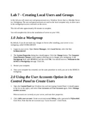 Lab 7 - Creating Local Users and Groups.docx
