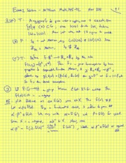 Fall 2011 - Math 145 - Exam 2 Solutions