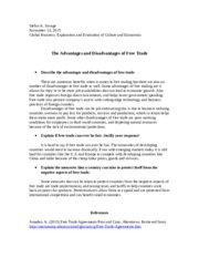 SavageS_M2_A1 The advantages and Disadvantages of Free Trade.docx