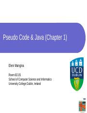Chapter 1 - Pseudocode