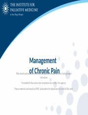 CSU Management of Chronic Pain.pptx