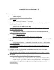 Comparison and Contrast Chapter Qs.docx