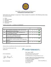 NURSING BS C493 : Leadership - Western Governors University -