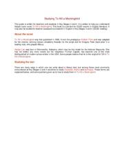 TKAM Webquest Answer Sheet - To Kill a Mockingbird 17 Copy ...