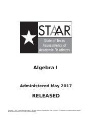 STAAR-EOC-2017-Test-AlgebraI-f (2) pdf - STAAR State of