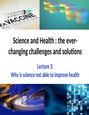 L3 Why is Science not able to improve health.pptx