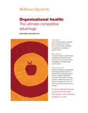 3 Organizational health The ultimate competitive advantage