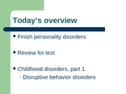 L21 - childhood disorders