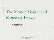 Week 11 - The Money Market and Monetary Policy (Chapter 26)