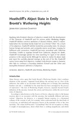 Heathcliff's Abject State in Emily