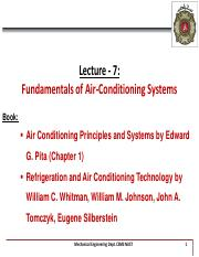 Lecture 7 - Air Conditioning System - 13th Week.pdf