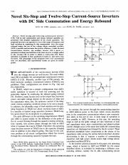 [1981]Novel Six-Step and Twelve-Step Current Source Inverters with DC-Side Commutation and Energy Re