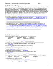 34 Population Ecology Worksheet Pdf - Free Worksheet ...