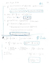 Math20100 S2010 Final Exam Answers