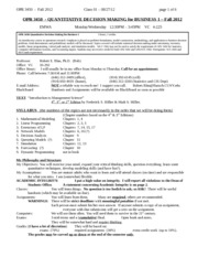 01Class08272012 Syllabus and Intro to LP1 corrected-1
