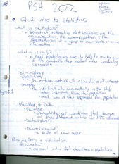 Intro to statistics notes