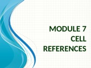 Module 7 - Cell references(1)