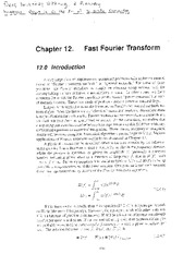 Lecture Note on Fast Fourier Transform