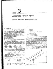 MULTIPHASE FLOW IN PIPES