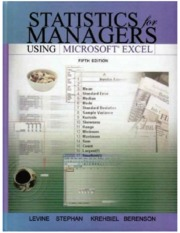Statistics for Managers Using Microsoft Excel (gnv64)