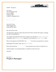 Contract For business