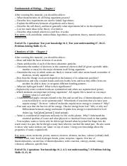 Biology Ch. 1-8 Study Guide