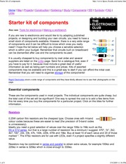 Starter kit of components