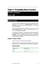 AMS 311 - Probability Mass Function