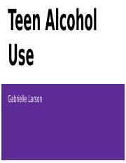 Chapter 01 Teen Risk Behaviors