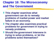 ECN 203 (10), The Microeconomy and The Government