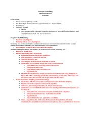 Audit - Final Exam Study Guide