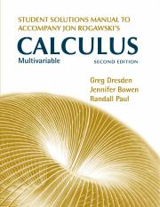 Calculus 2nd Edition - Multivariable Solutions